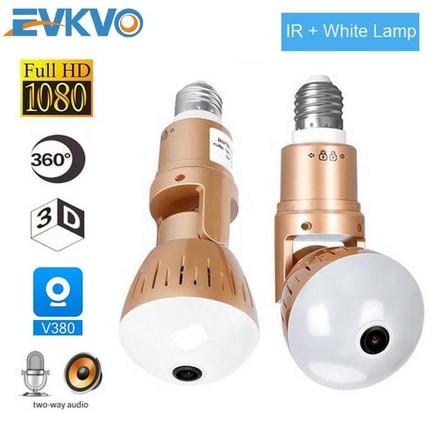 EVKVO удобная беспроводная IP WiFi камера-лампа Image